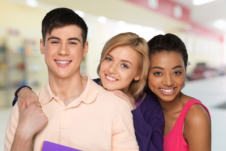 only teenage girls: Education. Stock Photo