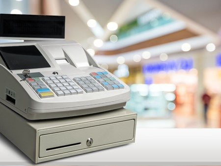 efectivo: Caja registradora.