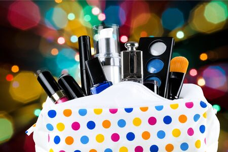 vanity bag: Cosmetics.