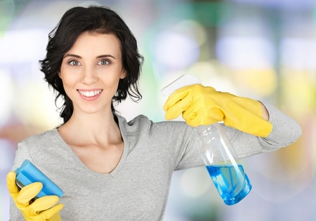 green house: Cleaning. Stock Photo