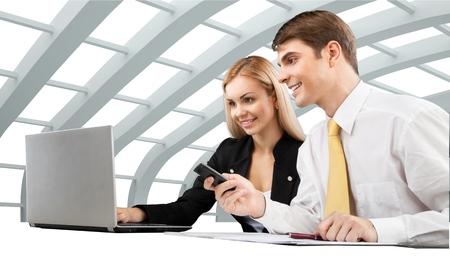 業務: 業務。 版權商用圖片