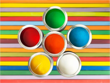 painting and decorating: Paint.