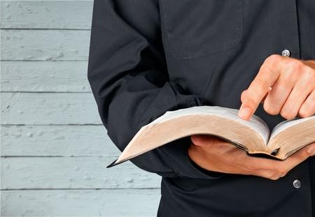 holding bible: Bible. Stock Photo