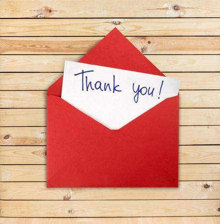 letter envelopes: Gracias.