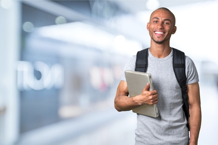 one young man: Student. Stock Photo