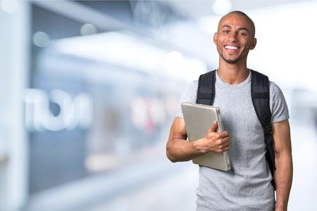 one man: Student. Stock Photo