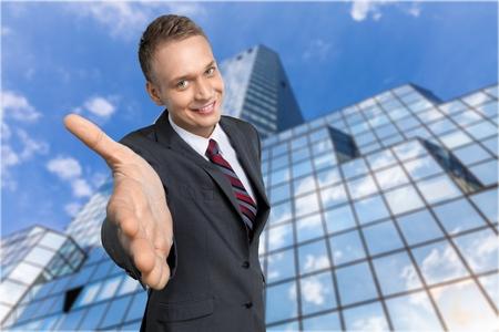 business handshake: Sales Occupation. Stock Photo