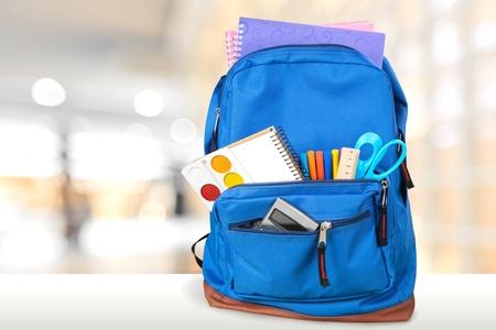backpack: Mochila. Foto de archivo