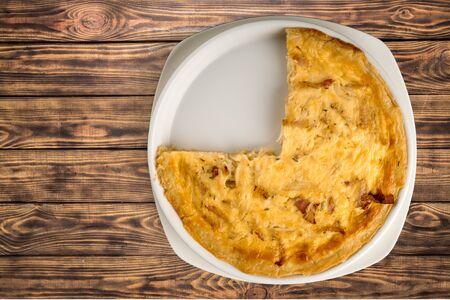 pastry crust: Quiche.