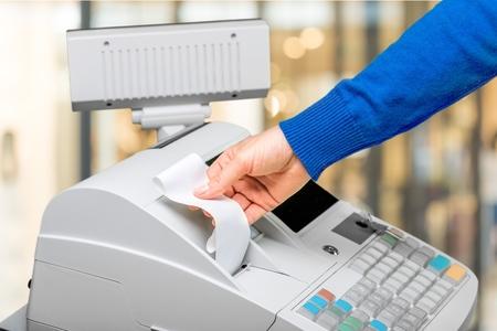 cash in hand: Cash Register.