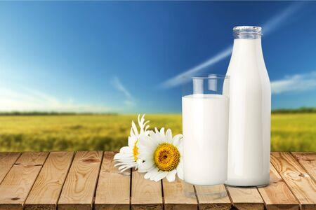Bouteille de lait.