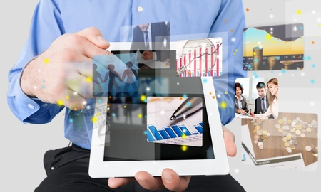 finance report: Marketing. Stock Photo