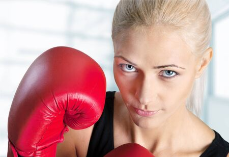martial arts woman: Boxing.