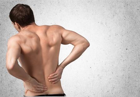 cuerpo hombre: Dolor de espalda.