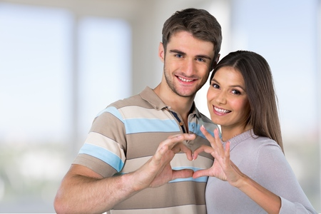 heart hands: Valentines. Stock Photo