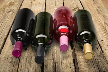 botella: Botella de vino.