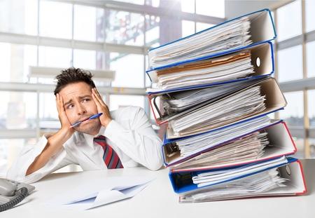 Emotionele stress. Stockfoto