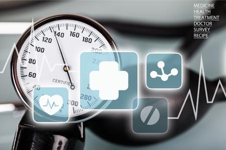 blood pressure gauge: Blood Pressure Gauge. Stock Photo