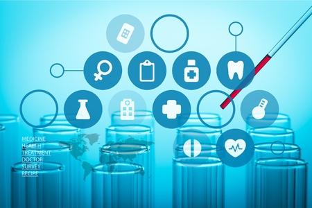 bio medicine: Laboratory.