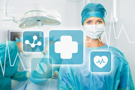 medical services: Surgery. Stock Photo