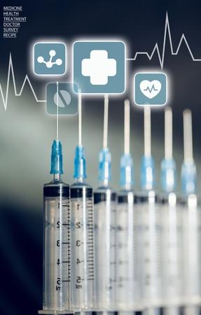 surgical needle: Syringe. Stock Photo