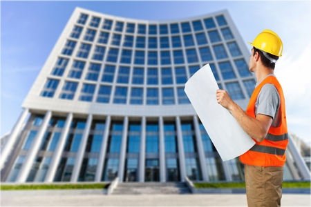 green building: Site. Stock Photo