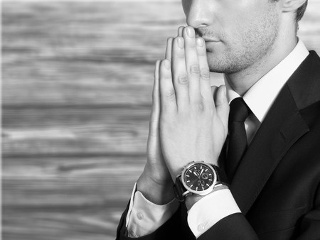 repentance: Pray. Stock Photo