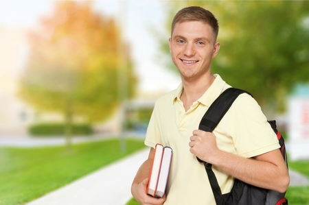 expressing positivity: Student. Stock Photo