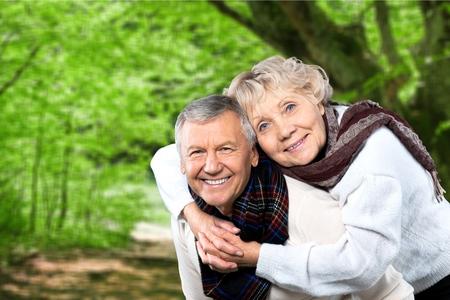 love park: Senior Couple. Stock Photo