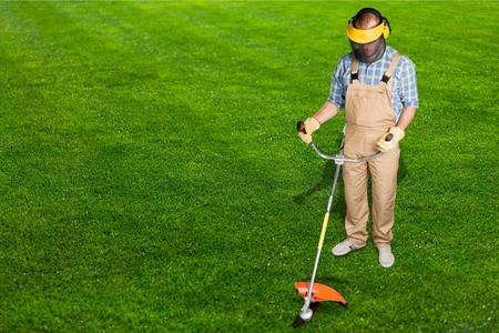 class maintenance: Gardening. Stock Photo