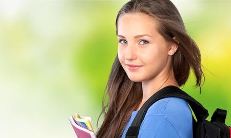 coed: Student. Stock Photo