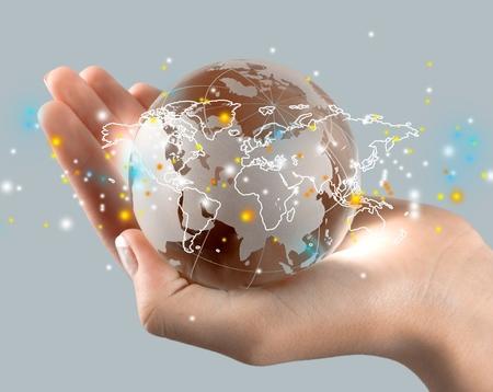 bola del mundo: Globo.  Foto de archivo