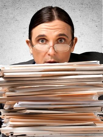file clerk: Folders.