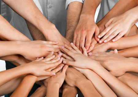 trabajo de equipo: Trabajo en equipo. Foto de archivo