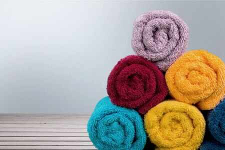 heap up: Towels. Stock Photo