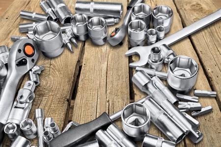 metallic: Metallic parts. Stock Photo