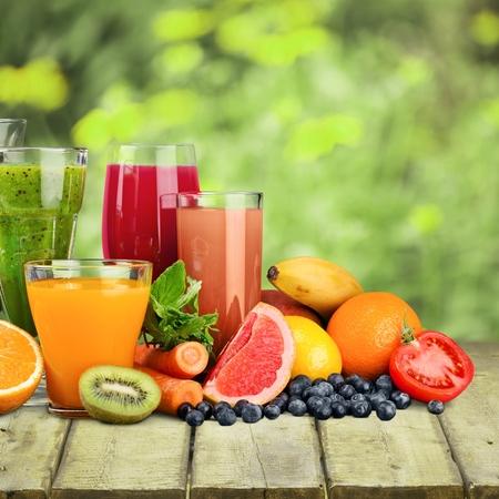 fruits juice: Fruits and juice Stock Photo