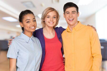 happy teenagers: Group of happy teenagers