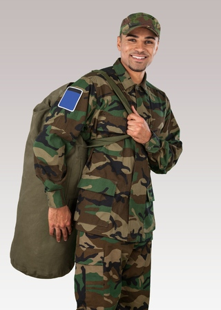 military invasion: Army with uniform Stock Photo