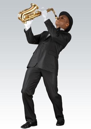 jazz background: Musician. Stock Photo