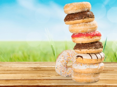 indulgence: Donut. Stock Photo