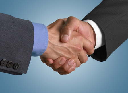 partnership: Handshake. Stock Photo