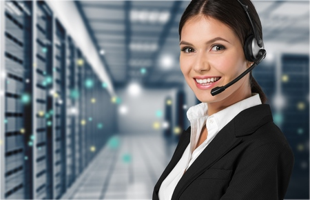 business smile: Operator. Stock Photo
