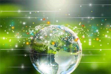 wereldbol: Globe. Stockfoto