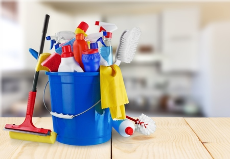 maid: Cleaning. Stock Photo