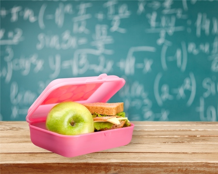 eating pastry: Lunch Box. Stock Photo