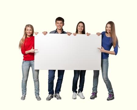estudiantes de secundaria: Firmar. Foto de archivo
