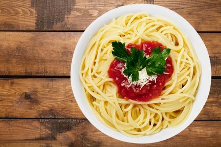 tomato sauce: Pasta.