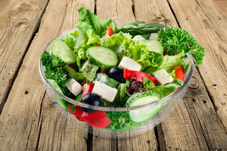 salad greens: Salad.