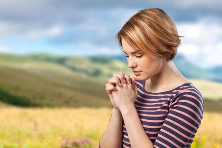 Praying. Stock Photo